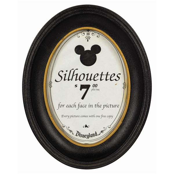 Disneyland Silhouette Studio Store Sign.