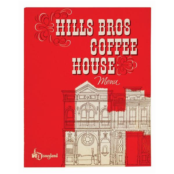 Hills Bros. Coffee House 1959 Menu.