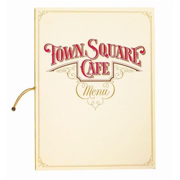 Town Square Cafe Menu.