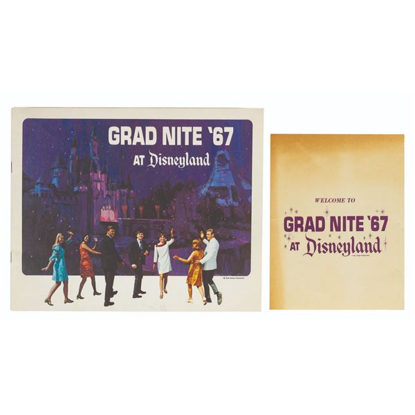 Disneyland Grad Nite '67 Brochure and Program.