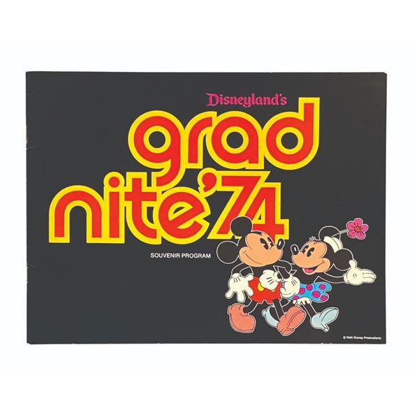 Grad Nite '74 Souvenir Program.