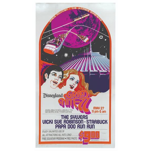 Grad Nite 1977 Foil Event Poster.