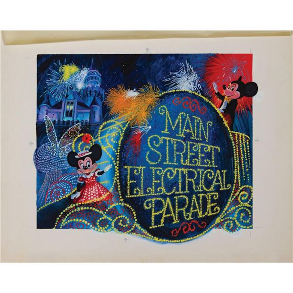 Main Street Electrical Parade Promotional Painting.