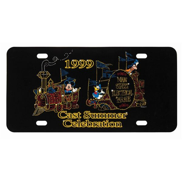 Main Street Electrical Parade Cast License Plate.