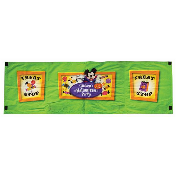 Mickey's Halloween Party Treat Stop Banner.