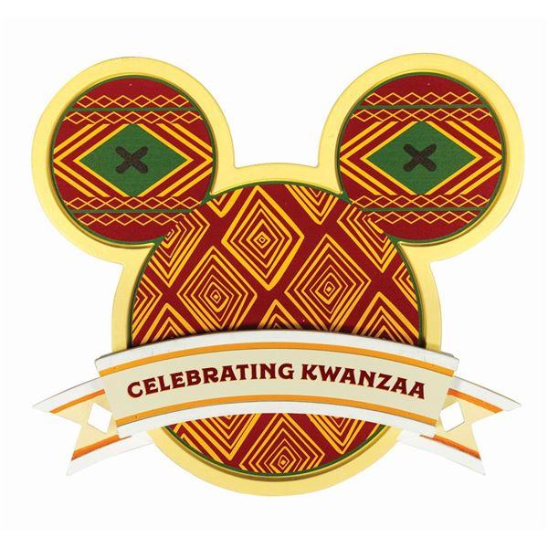 Disneyland Festival of Holidays Kwanzaa Park Sign.