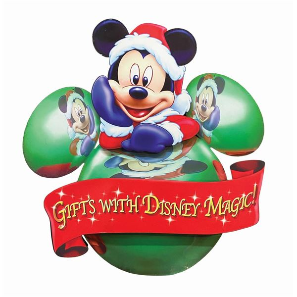 Gifts with Disney Magic Holiday Sign.