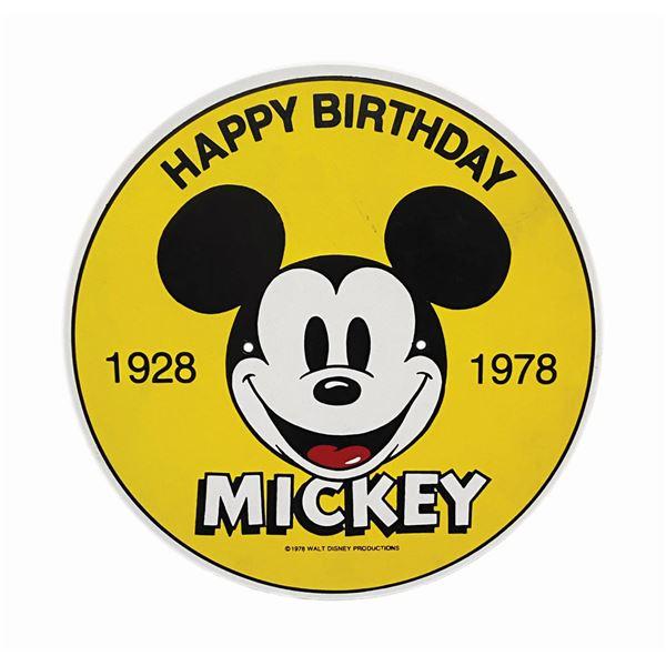 Happy Birthday Mickey 50th Birthday Sign.