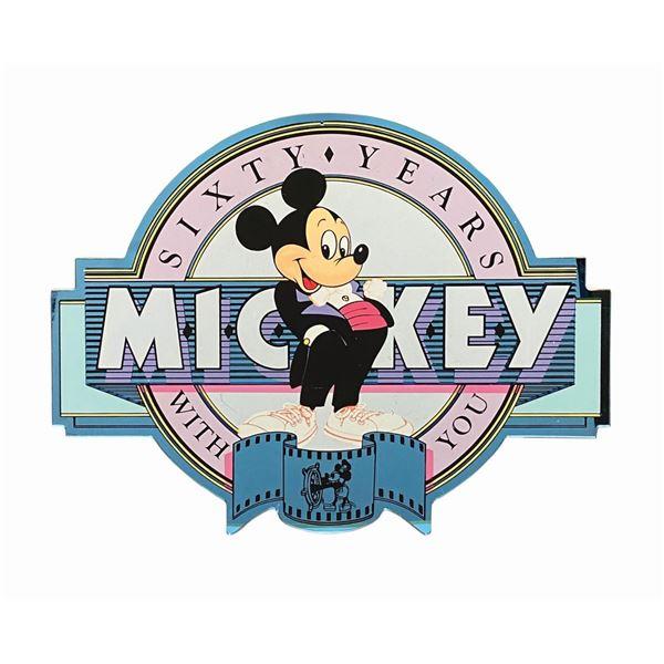 Mickey's 60th Birthday Main Street Lamppost Sign.
