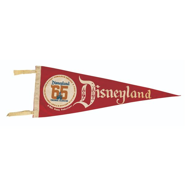 Disneyland Tencennial Anniversary Pennant.