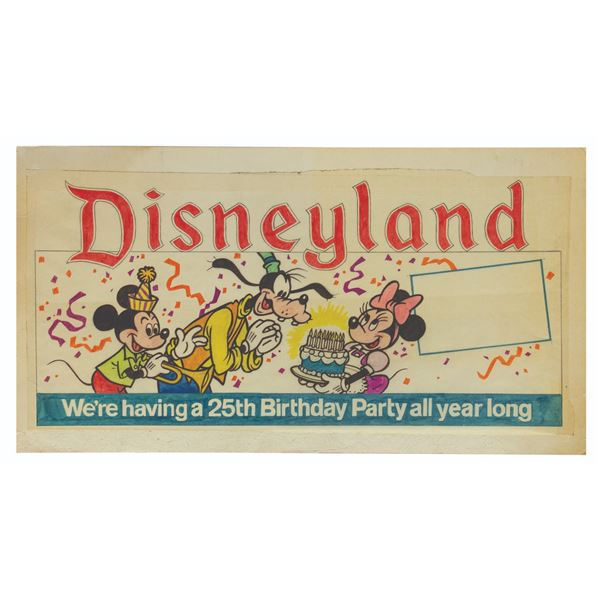Original Disneyland 25th Birthday Party Artwork.
