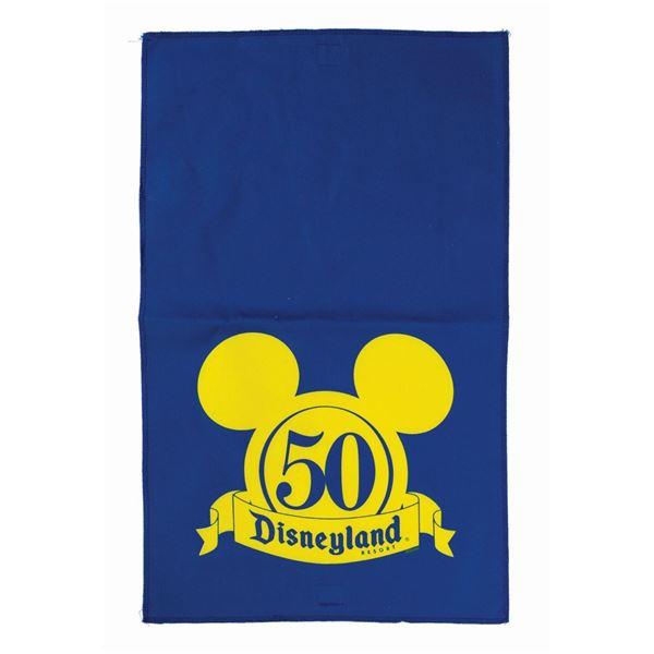 Disneyland 50th Anniversary Crowd Control Flag.