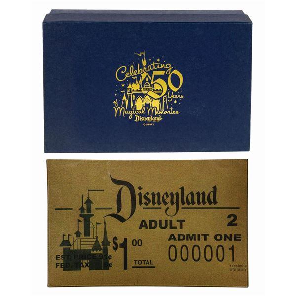 Disneyland 50th Anniversary Admission Ticket Plate.