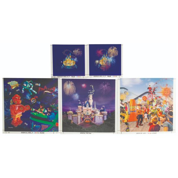 Set of (5) 50th Anniversary Lenticular Proof Prints.