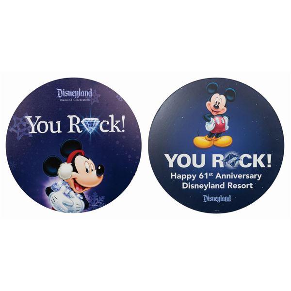 Pair of Diamond Celebration Signs.