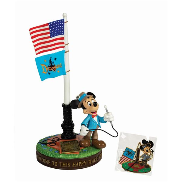 Mickey Mouse Disneyland Opening Day Flag Pole Figure.