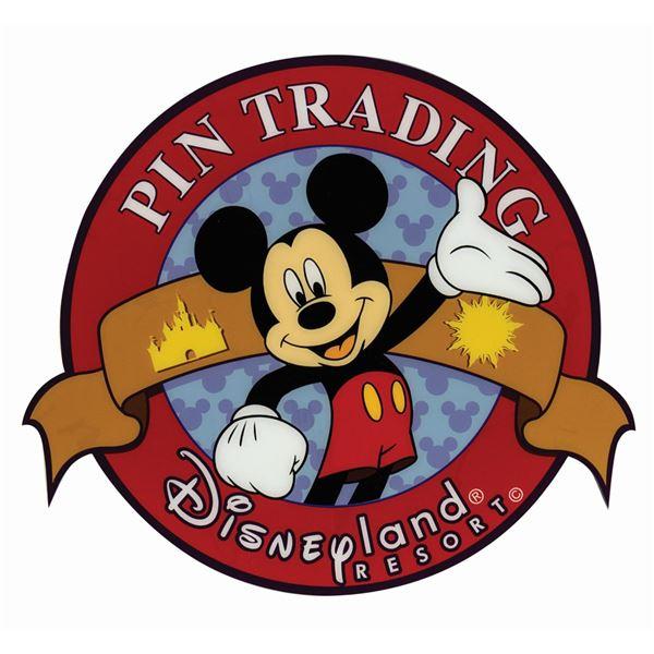 Disneyland Pin Trading Park Sign.