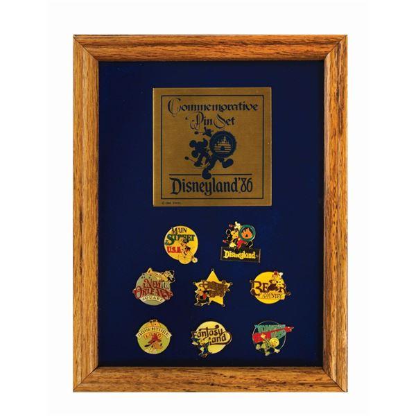 Disneyland 1986 Commemorative Pin Set.