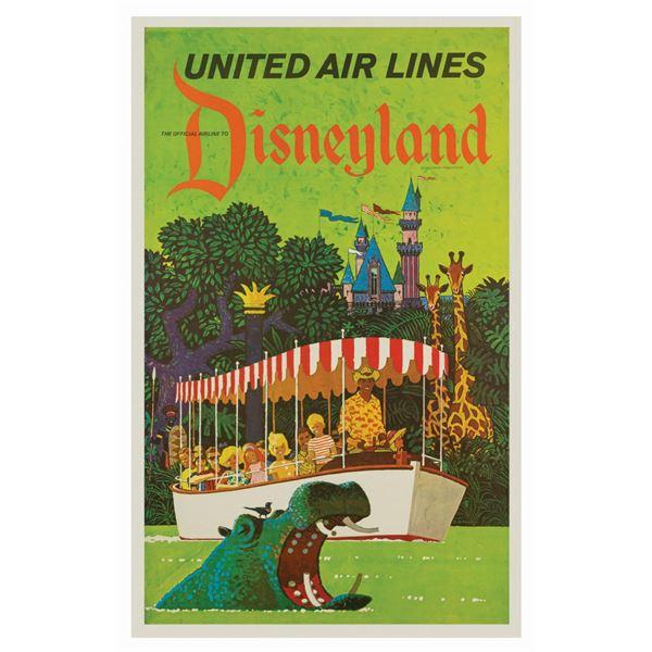 United Airlines Disneyland Travel Poster.