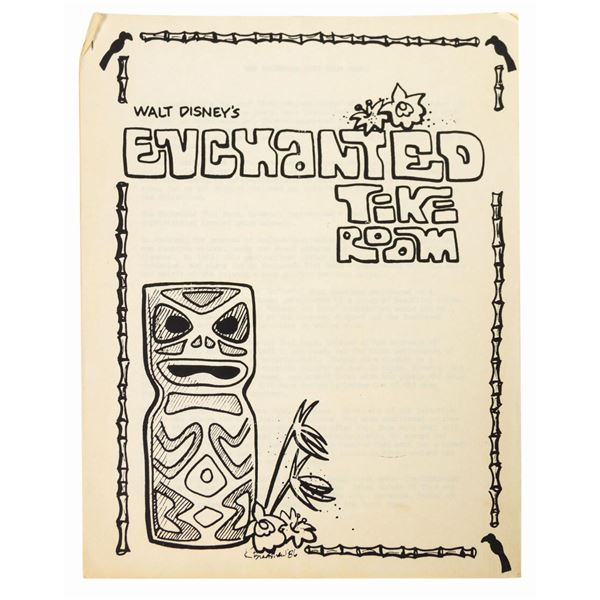 Enchanted Tiki Room Training Manual.