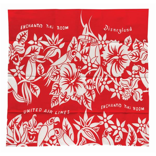 Enchanted Tiki Room Fabric Segment.