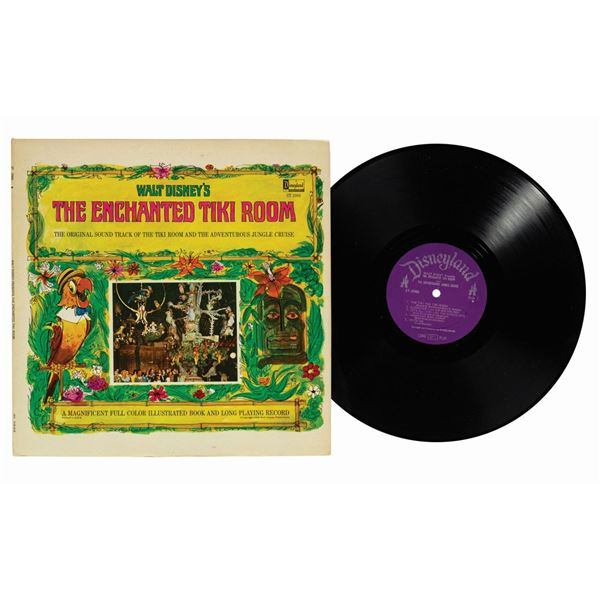 The Enchanted Tiki Room Soundtrack Book and LP.