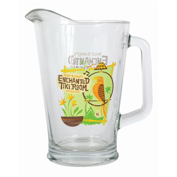 Enchanted Tiki Room 45th Anniversary Glass Pitcher.