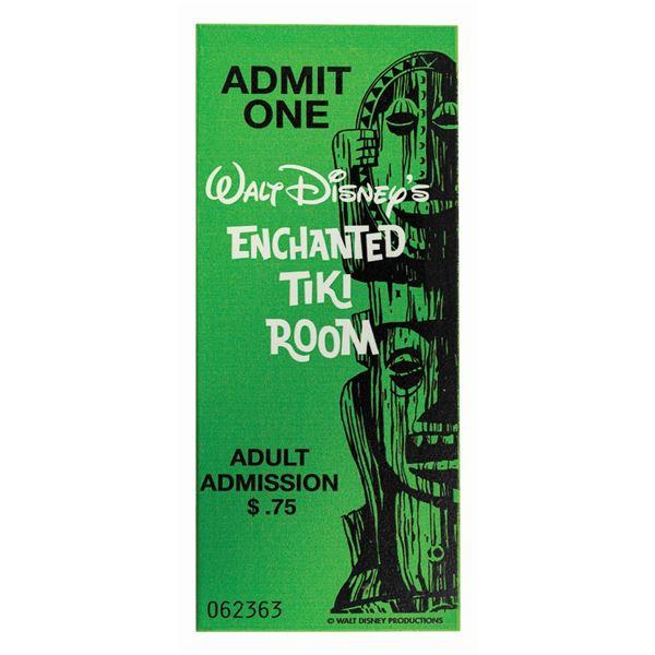 Enchanted Tiki Room 50th Anniversary Ticket Plaque.