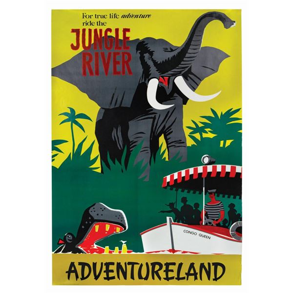 Jungle River Disney Gallery Attraction Poster.