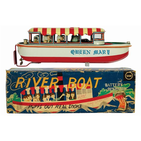 River Boat Japanese Tin Toy.
