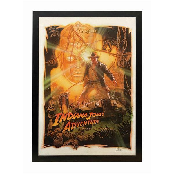 Indiana Jones Adventure Drew Struzan Signed Poster.