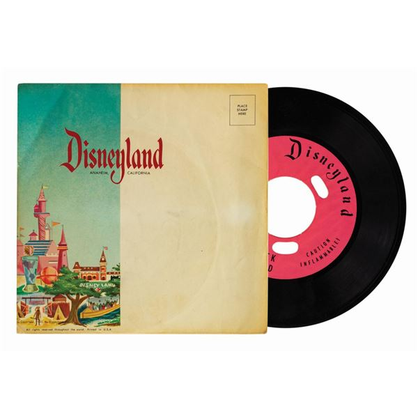 Frontierland Recording Booth Record and Mailer Sleeve.
