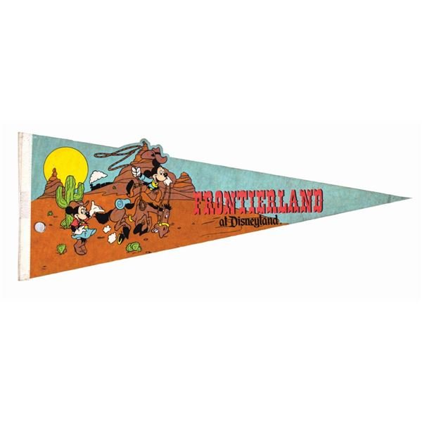 Frontierland Mickey & Minnie Mouse Pennant.