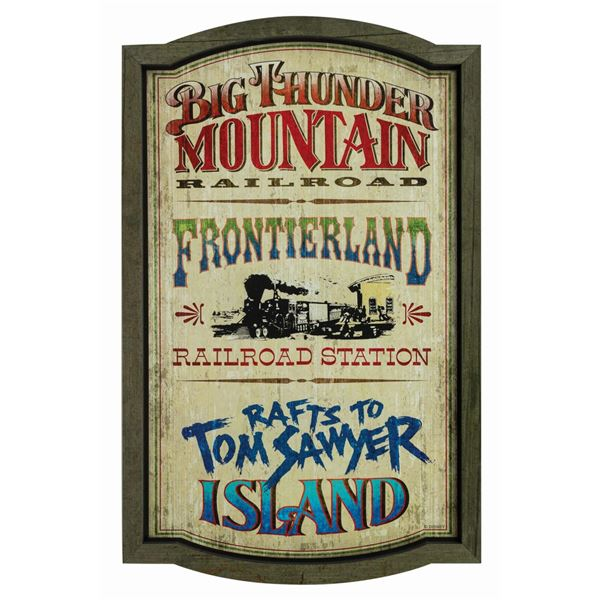 Frontierland Attractions Sign.