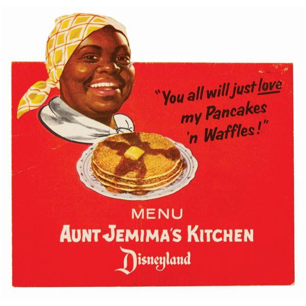 Aunt Jemima's Kitchen Menu.