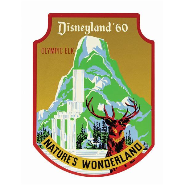 Disneyland Nature's Wonderland Metal Sign.