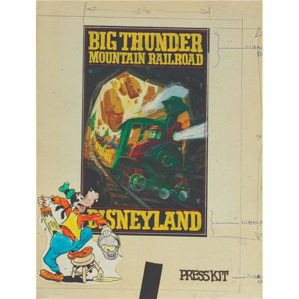 Big Thunder Mountain Railroad Press Kit Concept Art.