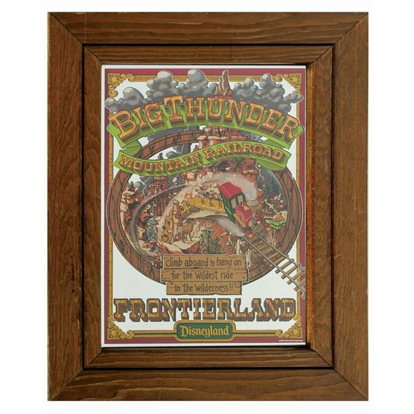Big Thunder Mountain Railroad Attraction Poster Mirror.