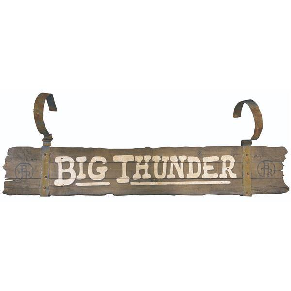 Big Thunder Ranch Entrance Sign.