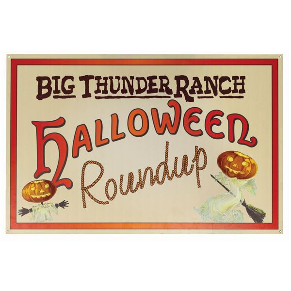 Big Thunder Ranch Halloween Roundup Sign.
