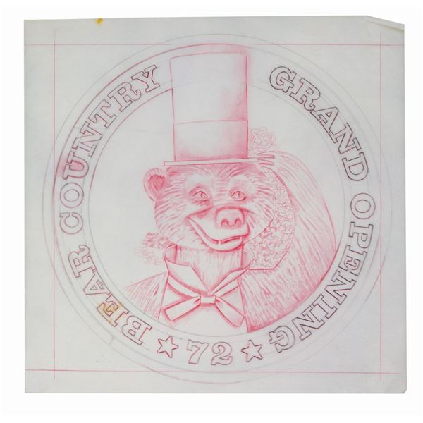 Original Drawing for Bear Country Grand Opening Coin.