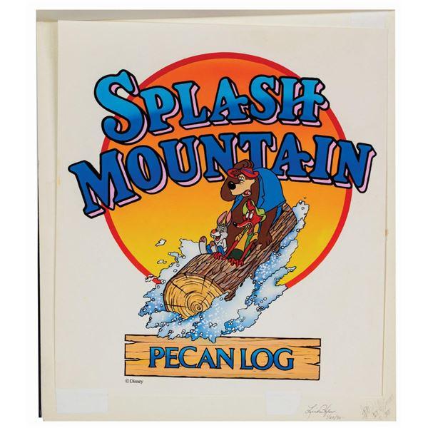 """""""Splash Mountain Pecan Log"""" Painting."""