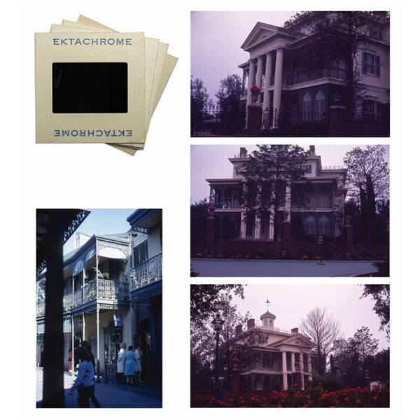 Collection of (4) New Orleans Square Slides.