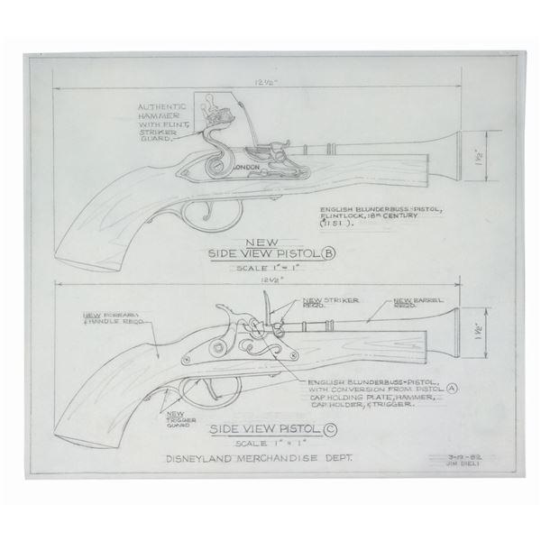 Pirates of the Caribbean Souvenir Pistol Drawing.
