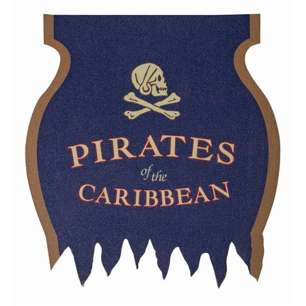 Pirates of the Caribbean Attraction Flag.
