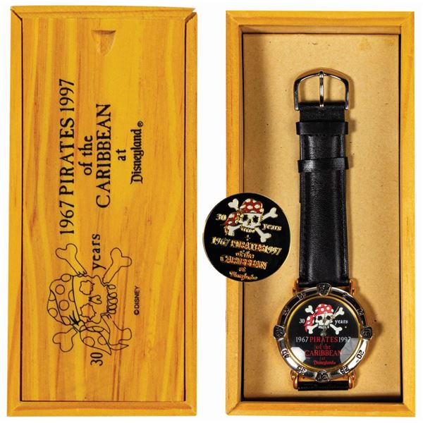Pirates of the Caribbean 30th Anniversary Watch & Pin.