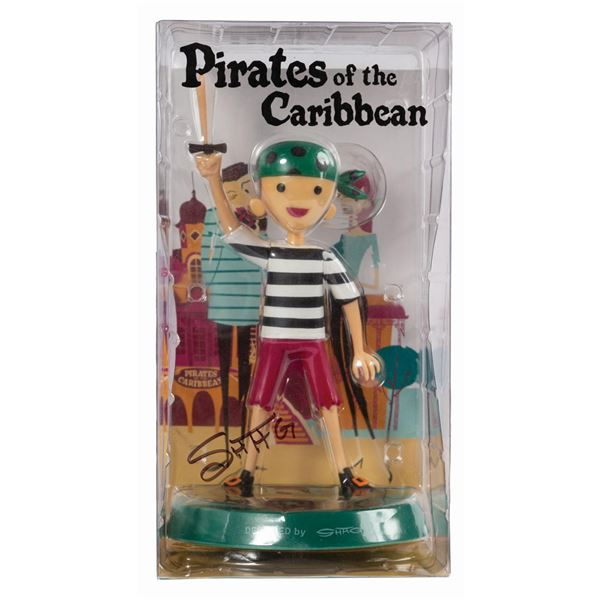 Shag Signed Pirates of the Caribbean Pirate Boy Figure.