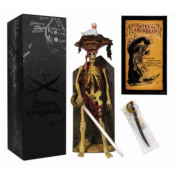 Pirates of the Caribbean Bird Head Skeleton Figure.