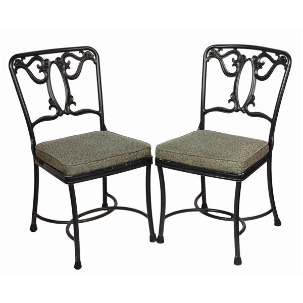 Pair of Blue Bayou Restaurant Chairs.