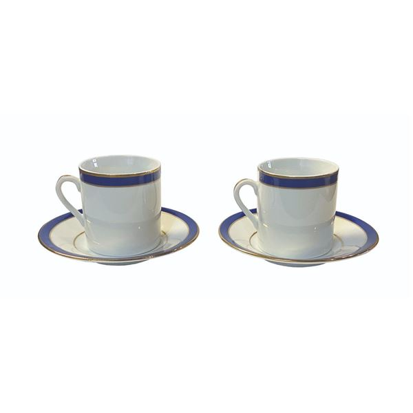 Pair of Club 33 Michael Leson Espresso Cups & Saucers.